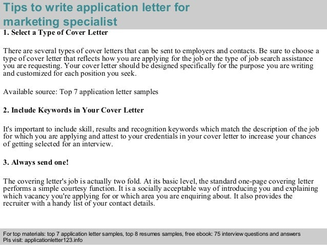 Application letter marketing specialist , Essaywriters Sign Up ...