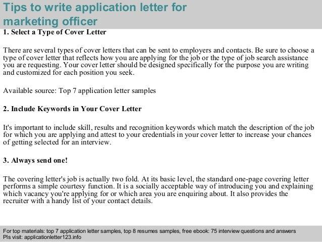Marketing officer application letter 3 spiritdancerdesigns Gallery