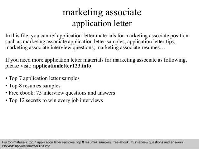 marketing associate resumes