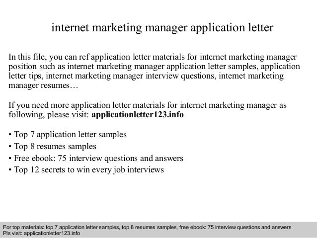 international marketing manager application letter – International Marketing Manager