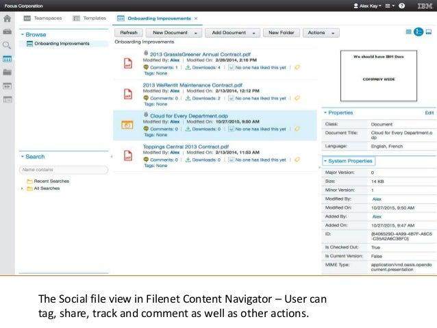 filenet content navigator