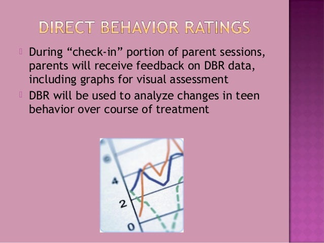 """ During """"check-in"""" portion of parent sessions, parents will receive feedback on DBR data, including graphs for visual ass..."""
