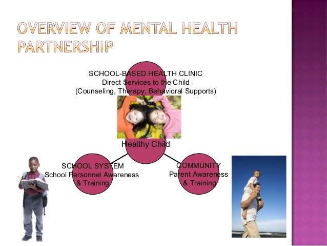 SCHOOL SYSTEM School Personnel Awareness & Training COMMUNITY Parent Awareness & Training SCHOOL-BASED HEALTH CLINIC Direc...