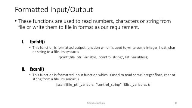what is the input and output of a function