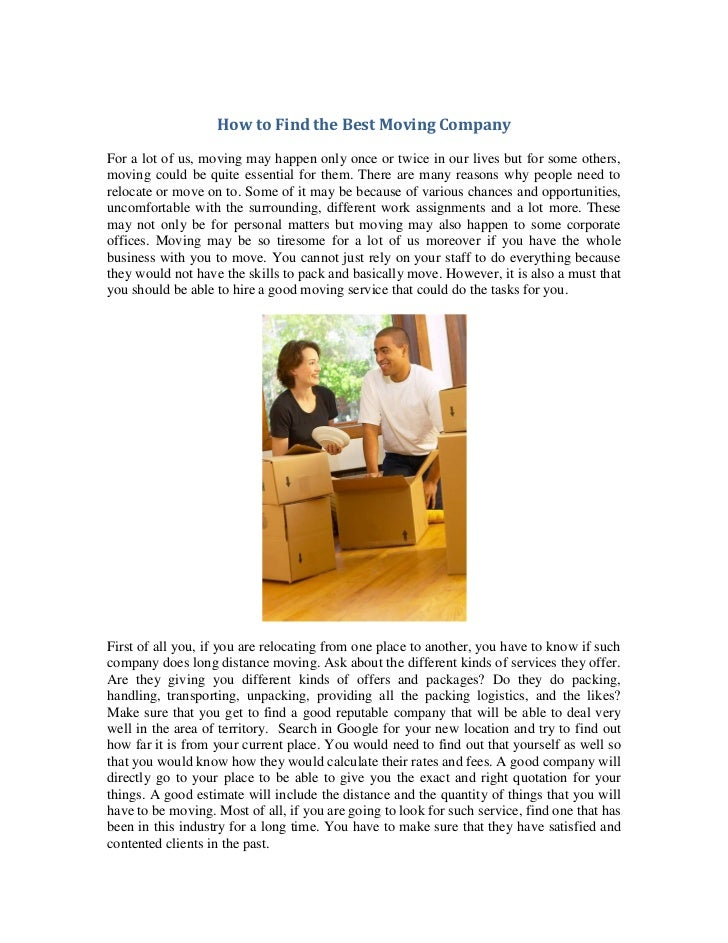 Home Improvement Articles How To Find The Best Moving Company Amazine