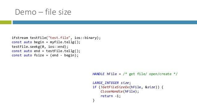 C++17 std::filesystem - Overview