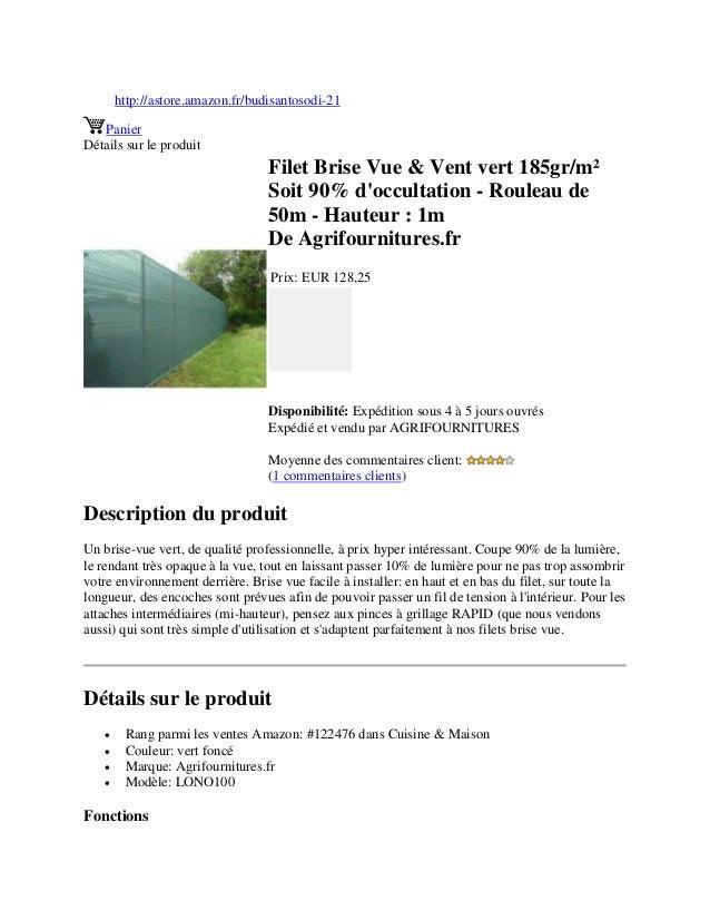 filet brise vue vent vert 185gr m soit 90 d 39 occultation rouleau. Black Bedroom Furniture Sets. Home Design Ideas