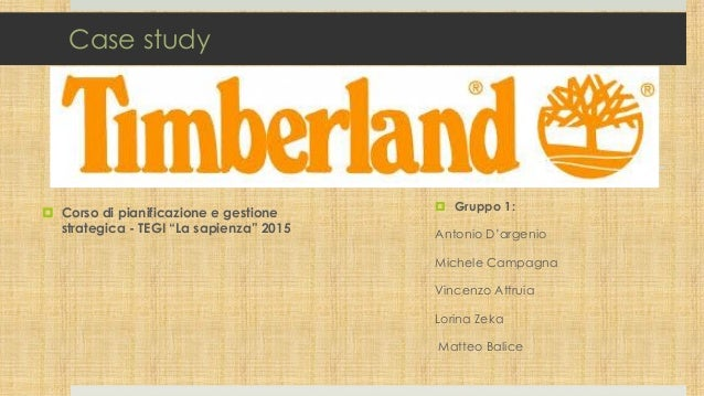"""Case study  Corso di pianificazione e gestione strategica - TEGI """"La sapienza"""" 2015  Gruppo 1: Antonio D'argenio Michele..."""