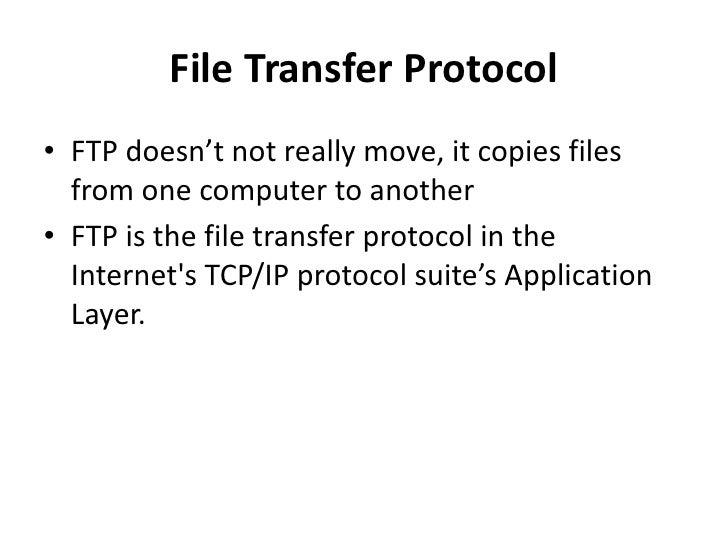 File Transfer Protocol Slide 3