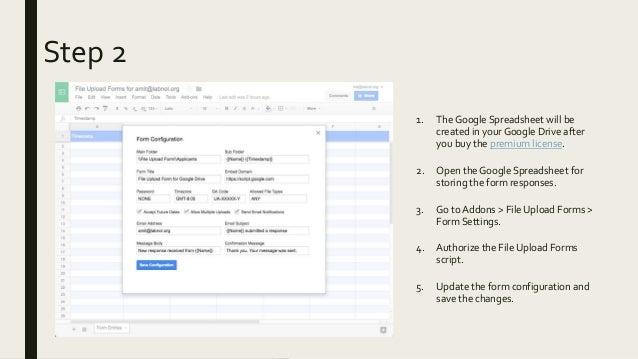 File Upload Forms for Google Drive