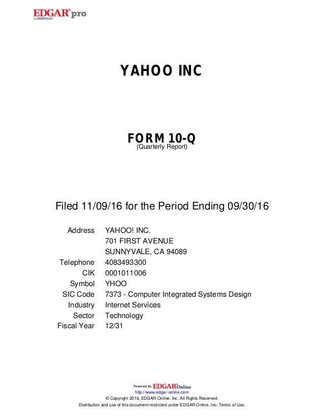 Yahoo 10-Q SEC filing reveals data breach was known for two years