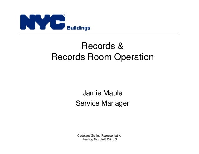 New York City Department of Buildings Filing rep course_203