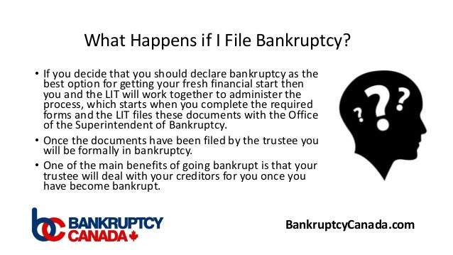 what happens when you file for bankruptcy in texas