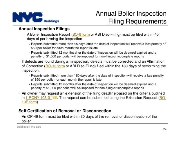 New York City Department Of Buildings Filing Rep Course 103