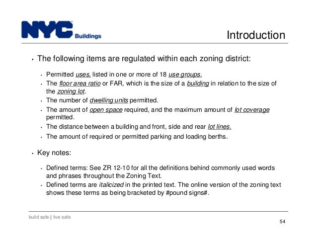 Key Components For Department Of Buildings Filing