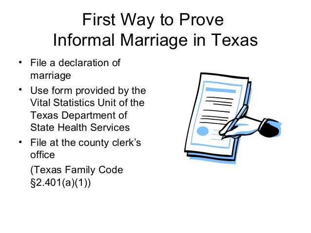 How Informal Marriage or Common Law Marriage Affects Filing Status