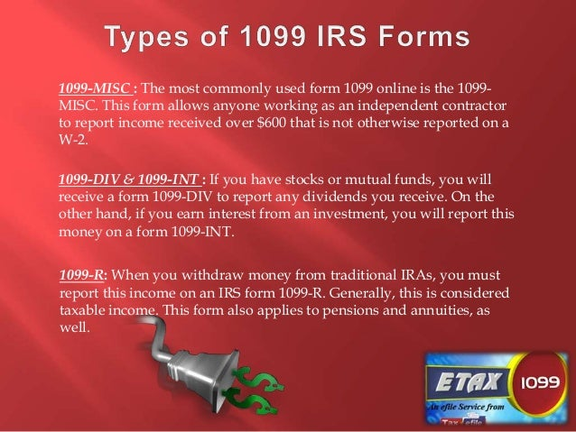 Types Of Form 1099 And How To File Them Online