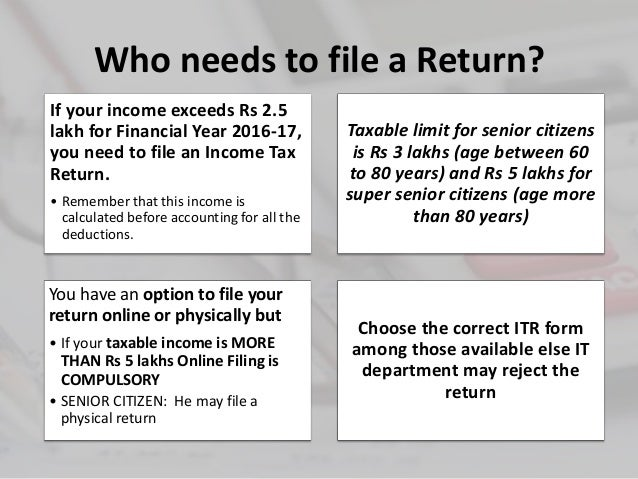 Filing your income tax return for FY 2016 17