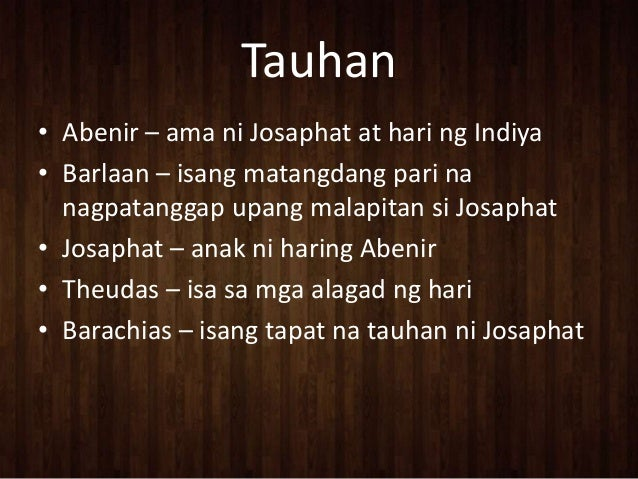 barlaan at josaphat This is our project in filipino, of group 1 - room 904, 3rd year students of la salle academy, iligan city give credits, all right ) btw, it has a great int.