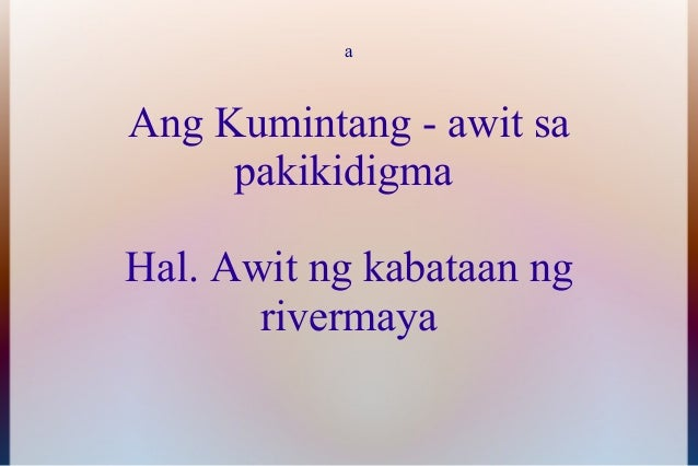 Rivermaya - Awit Ng Kabataan Lyrics | MetroLyrics