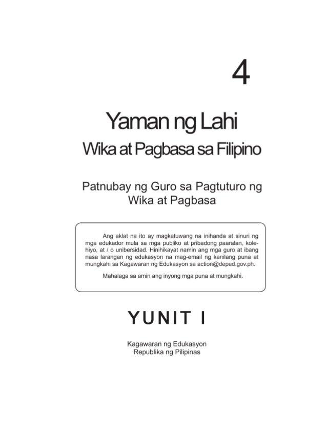 ii Mga Bumuo ng Patnubay ng Guro Punong Tagapangasiwa: Angelika D. Jabines Manunulat: Sancho C. Calatrava, Modesta R. Jaur...