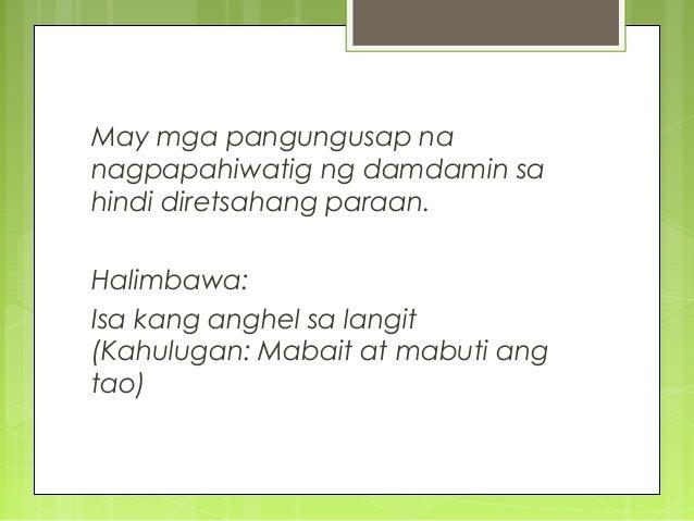 halimbawa ng maikling discriptive pangungusap Magbigay ng 5 pangungusap na hugnayang pangungusap  by guest19956363 | 8 years ago 6  magbigay ng mga halimbawa ng maikling kwento answers: 64.