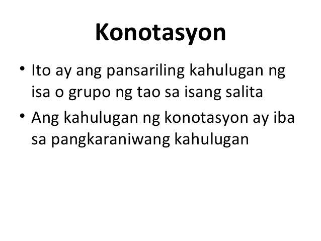 DENOTASYON AT KONOTASYON PDF