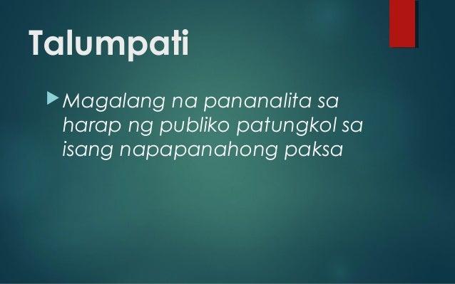 Filipino talumpati