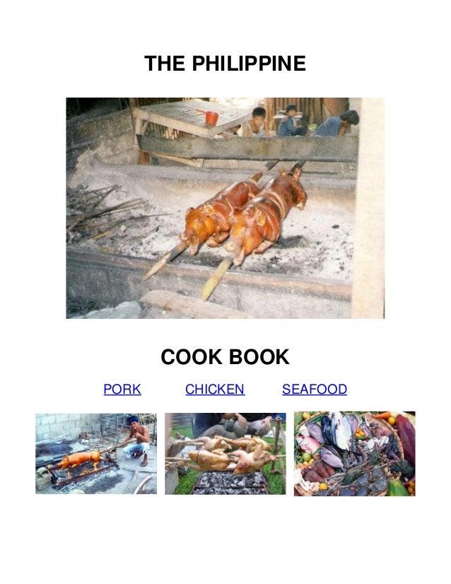 THE PHILIPPINE  COOK BOOK PORK  CHICKEN  SEAFOOD