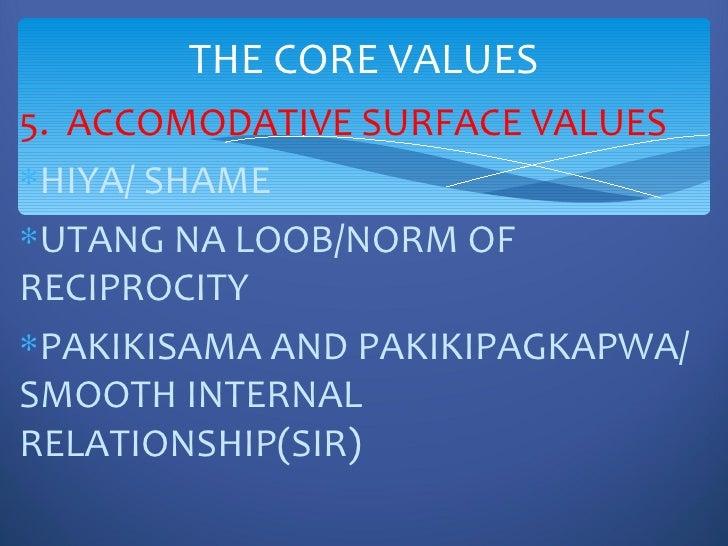 Filipino core values