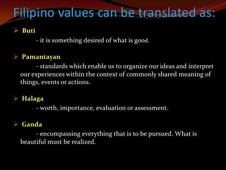 The cultural norms of filipino, Coursework Sample - tete-de