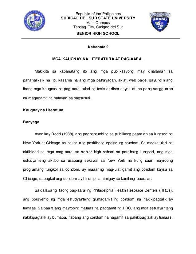 thesis sa filipino 2 maagang pagbubuntis