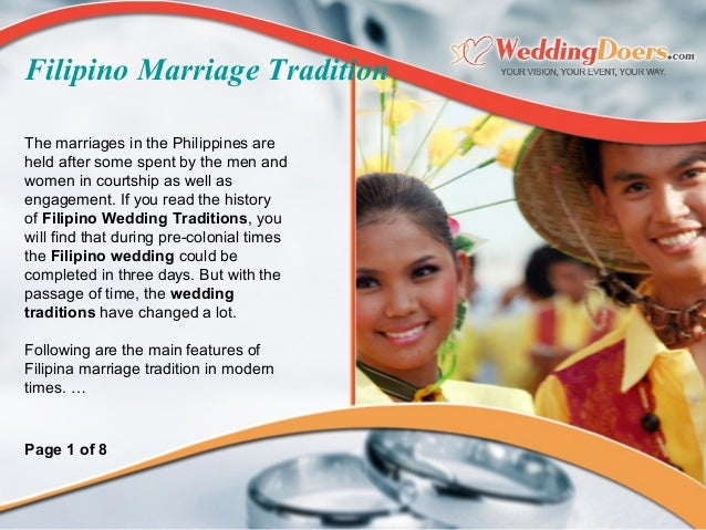 what are some dating and marriage customs in philippines