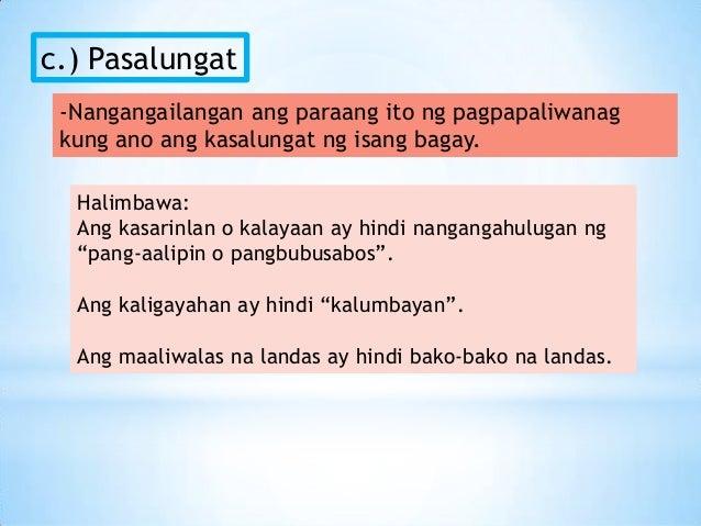 mga halimbawa ng paglalahad Sa isang mag-aaral kailangan din natin ang magsaulo ng mga bagay bagay gaya ng tula pagpapaliwanag ng pamamaraan mga halimbawa ng paglalahad.