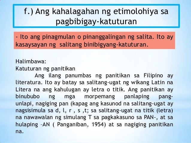 pagbibigay katuturan Essays - largest database of quality sample essays and research papers on halimbawa ng pagbibigay katuturan.