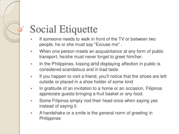 Filipino proper manners and etiquette business etiquette 11 stopboris Choice Image