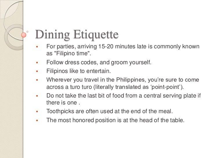 Filipino proper manners and etiquette