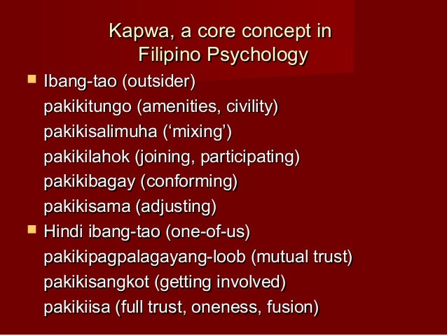 Identity: Filipino Psychology Essay