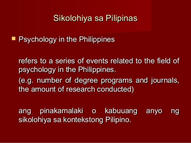 filipino psychology Sikolohiyang pilipino(filipino psychology): a legacy ofvirgiliog enriquez rogeliape-pua the university of newsouth wales elizabethprotacio-marcelino.