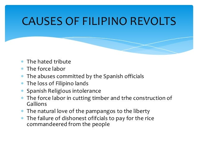 primary sources of the early filipino revolts