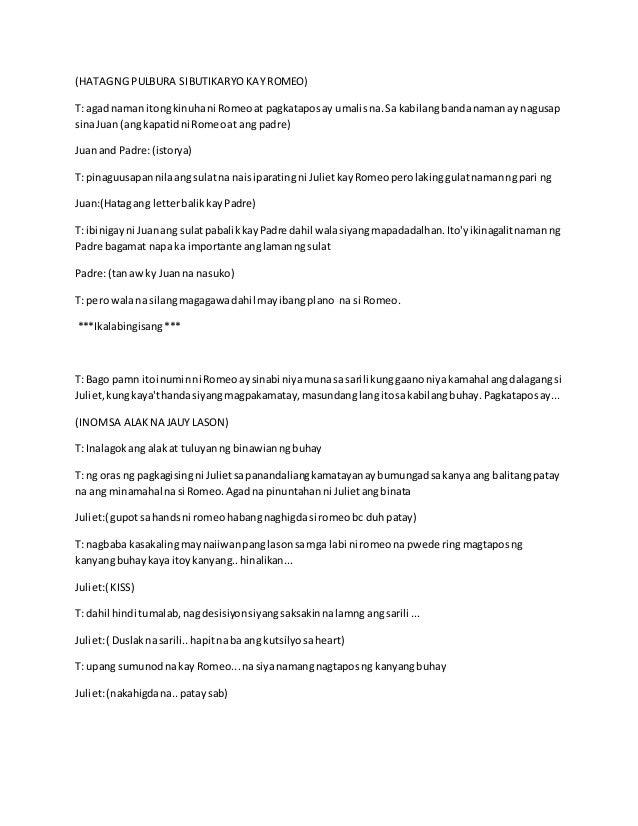 Filipino rj script