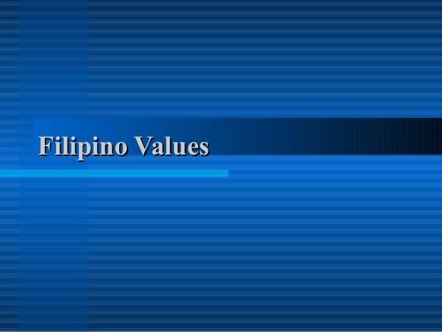 filipino values essay
