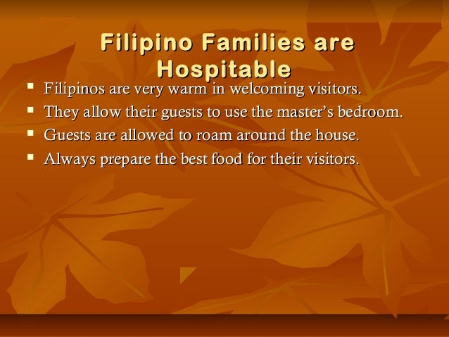 Why are Filipinos known to be hospitable?