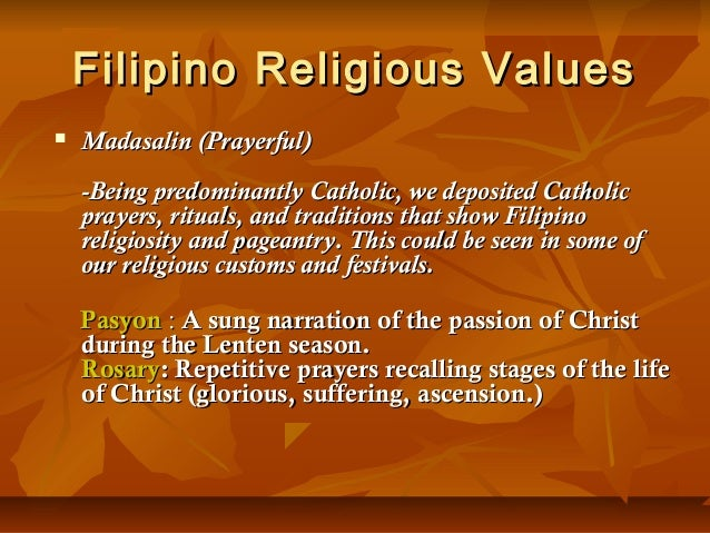 essay about filipino culture and values Discovering filipino culture 5 pages 1144 words june 2015 saved essays save your essays here so you can locate them quickly.