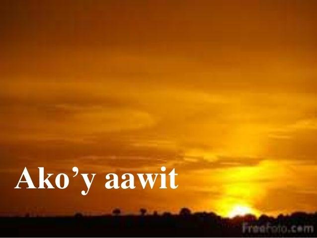 Ako'y aawit