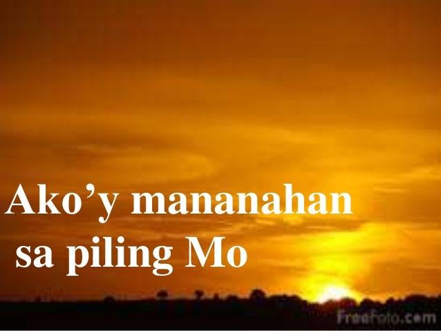 Ako'y mananahan sa piling Mo
