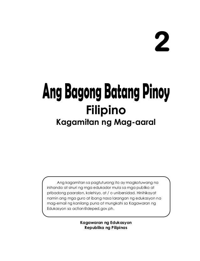Filipino Kagamitan ng Mag-aaral Kagawaran ng Edukasyon Republika ng Pilipinas 2 Ang kagamitan sa pagtuturong ito ay magkat...