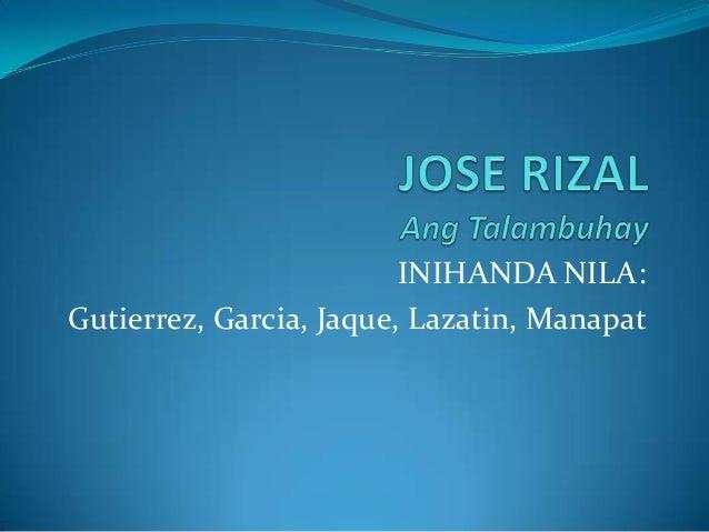 INIHANDA NILA:Gutierrez, Garcia, Jaque, Lazatin, Manapat