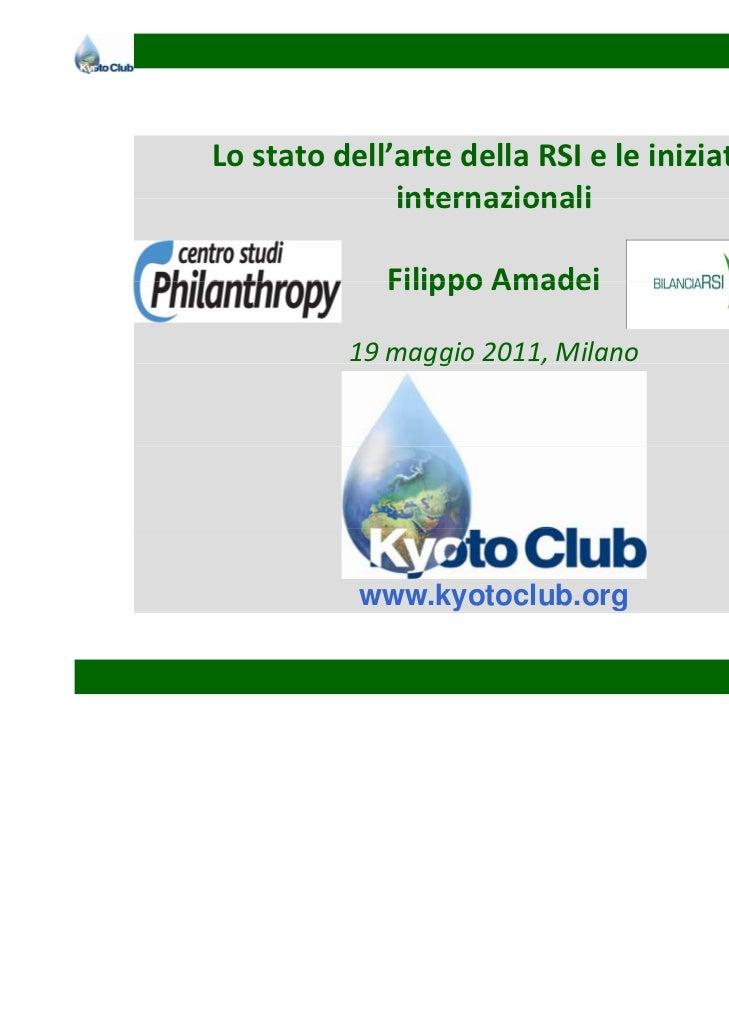 Lostatodell'artedellaRSIeleiniziative              internazionali             FilippoAmadei             Filippo A...