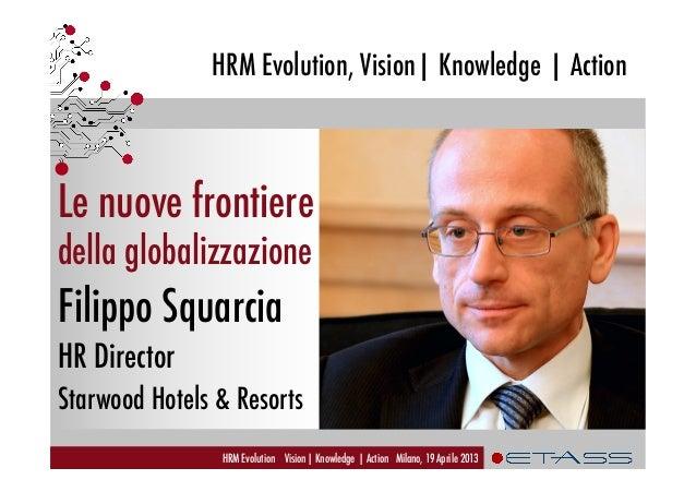 HRM Evolution, Vision| Knowledge | ActionHRM Evolution Vision| Knowledge | Action Milano, 19 Aprile 2013Le nuove frontiere...